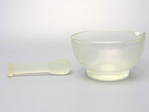 Glass Mortar With Glass Pestle