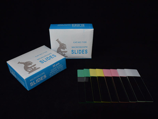 Color Frosted Microscope Slides